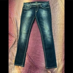 Rerock for Express Distressed Skinny Jeans